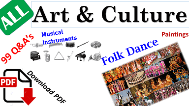 Art &Culture Folk & classical Dance of India state wise PDF Download